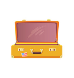 vintage luggage case travelling concept flat style vector image
