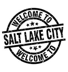 Welcome to salt lake city black stamp vector