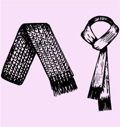 winter scarf vector image