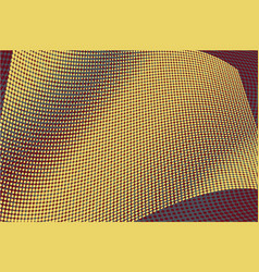 yellow halftone circle background vector image