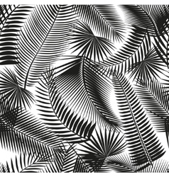 Beautiful black seamless tropical jungle floral vector image