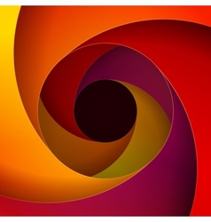 Colorful red orange and yellow paper swirls vector