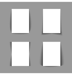 Set of white lists of paper vector image vector image