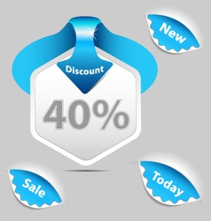 Discount sale labels set vector image