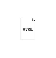 Htm html file extension icon vector