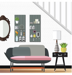 modern and stunning living room decor vector image vector image