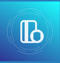 Secure payment icon credit card and shield vector