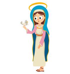 virgin mary saint mary the mother of god vector image