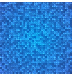 Abstract blue pixel mosaic seamless background vector