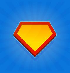 Blank superhero logo icon on blue background vector