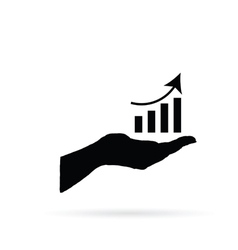 business success in hand vector image