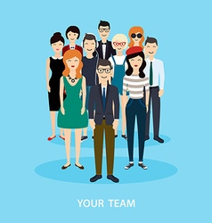 Business Team Teamwork Social Network and Social vector image vector image