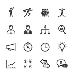 Finance and Human Resource Icons vector image