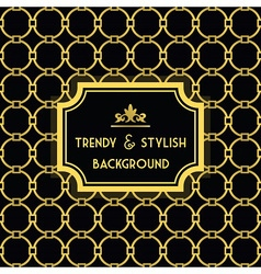 Golden and black trendy and stylish pattern vector image vector image