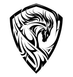 horse emblem as shield vector image vector image