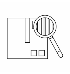 Inspection of cargo icon outline style vector image vector image