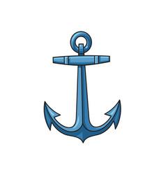 metal sailing boat anchor cartoon vector image