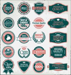 retro quality labels vector image