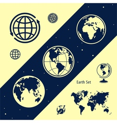 Set of land vector image vector image