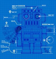 Sketch robot blueprint vector image vector image