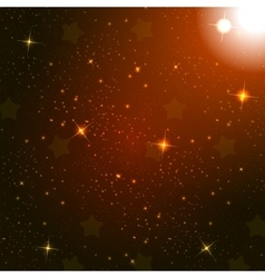 Starry Sky on Blue Background vector image vector image