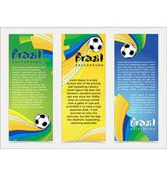 Wavy colorful abstract background in Brazil flag vector image