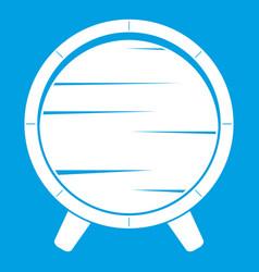 barrel on legs icon white vector image vector image