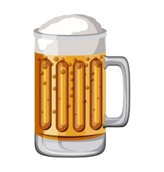 beer drink fresh isolated icon vector image vector image