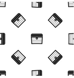 chest pattern seamless black vector image vector image