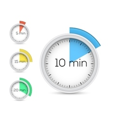 Collection of timers vector image