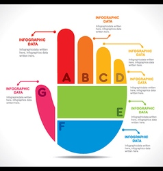 Creative hand info-graphics design concept vector