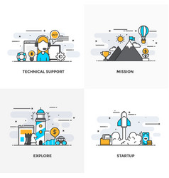 flat line designed concepts 2-colored vector image