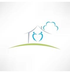 happy home icon vector image vector image