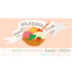 ice cream poster gelateria vector image