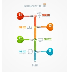Timeline Infographic and dart arrow vector image vector image