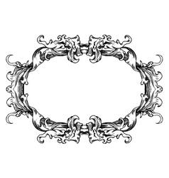 vintage floral ornament vector image vector image