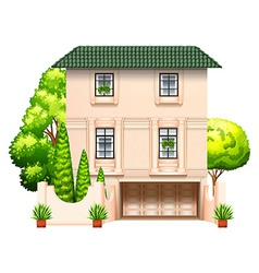 A building with trees vector image