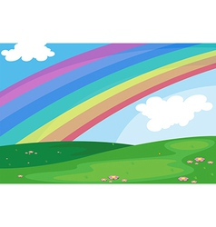 A rainbow in the sky vector
