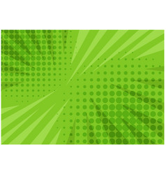 Abstract green striped retro comic background vector
