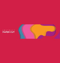 Abstract paper cut banner background vector