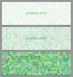 Abstract square pattern banner background set vector