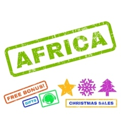 Africa Rubber Stamp vector image