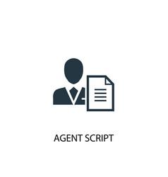 Agent script icon simple element vector