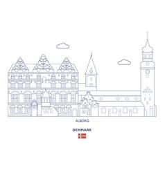 Alborg city skyline vector
