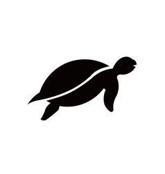 animal turtle icon filled flat sign solid vector image