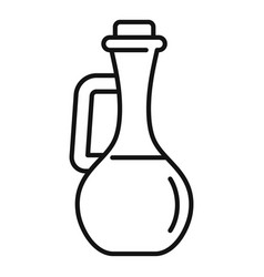 Ayurveda oil bottle icon outline style vector