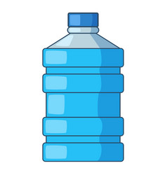 big bottle of water icon cartoon style vector image
