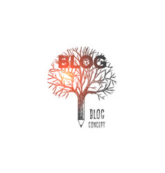 blog concept hand drawn isolated vector image
