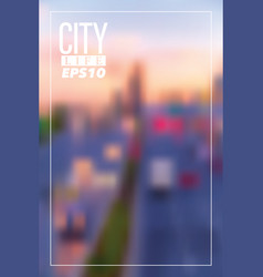 Blurry city background vector