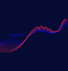 Bright music poster with dynamic waves vector